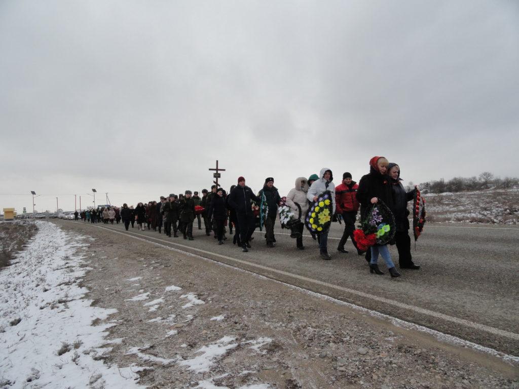 Траурная процессия к месту захоронения