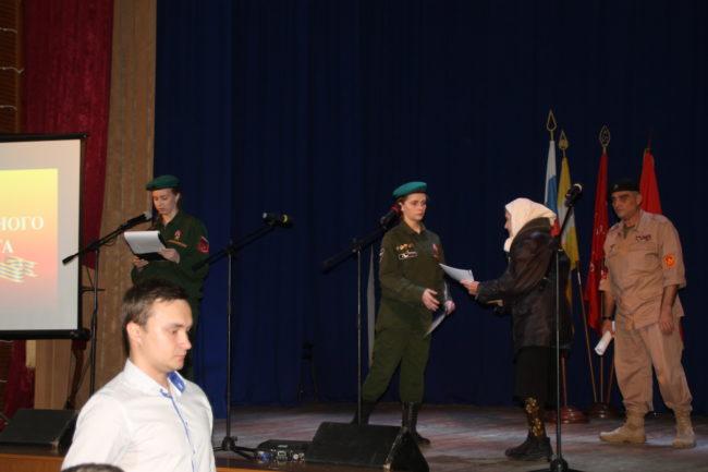 Вручение документов на солдата Шошина Александра Никифоровича