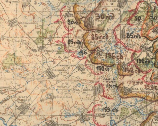 Карта боевых действий 156 сд