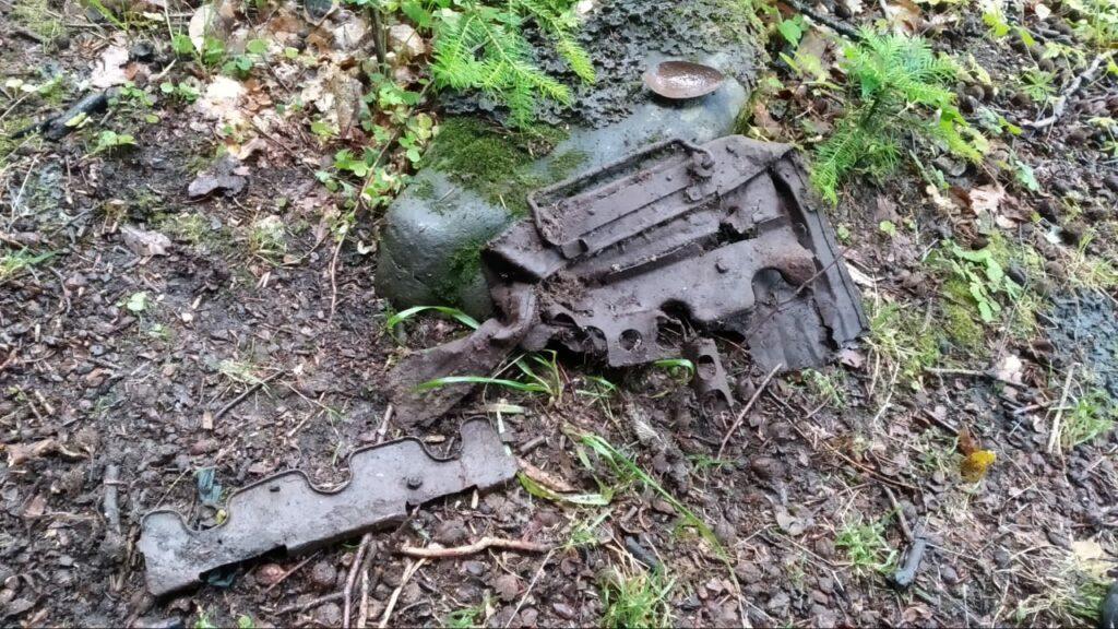 реликвии военных лет, найденные на 30-м километре