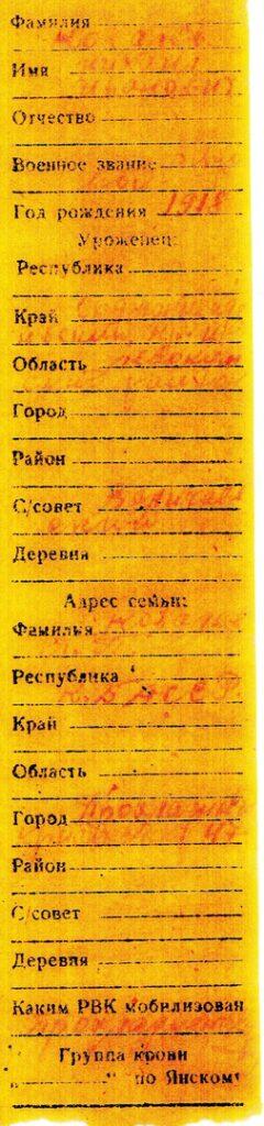 Личный опознавательный знак Ковалева М.И.