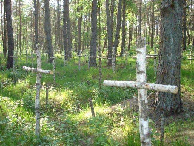 Кладбище Редеритц находится в бывшем в лесу