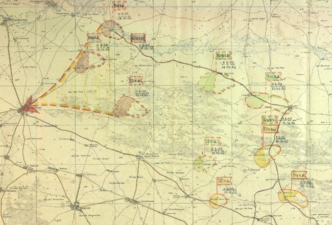 Карта боевых действий 4-й ГККК