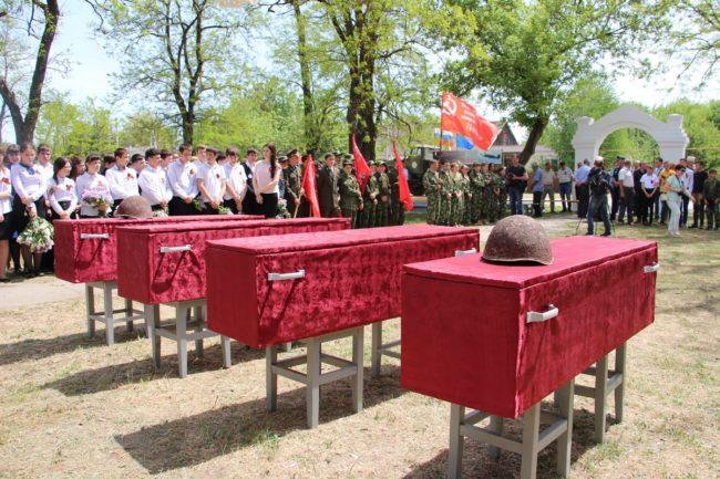 В Ставропольском крае захоронены останки  12 воинов РККА