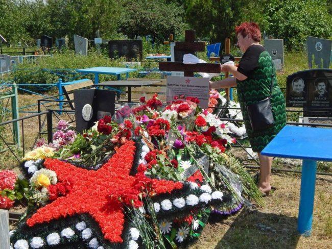 Торжественная церемония перезахоронения воина