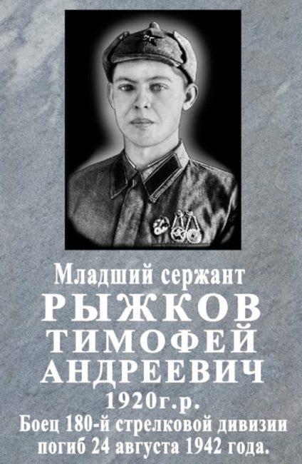 Рыжков Тимофей Андреевич