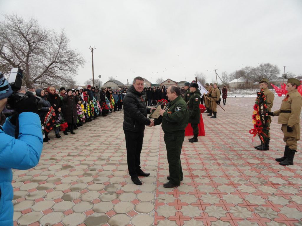 Торжественная церемония захоронения останков красноармейца Занчева Петра Васильевича