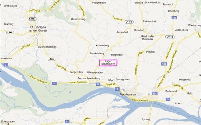 Лагерь Маутхаузен на карте