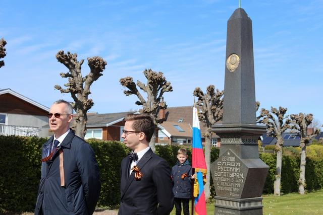 Памятник погибшим советским солдатам на Борнхольме