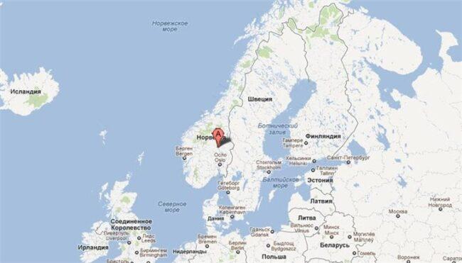 Населенный пункт на кате Норвегии