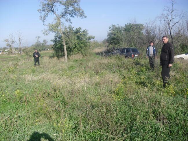 Предполагаемое место расстрела мирных жителей в с. Преградном Красногвардейского района
