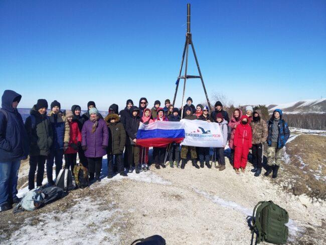 Общее фото на вершине горы Малое Седло